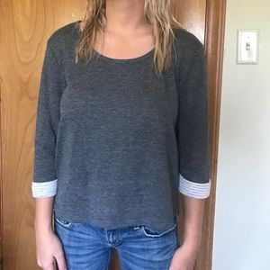 Anthropologie Under Skies Gray Top Size M